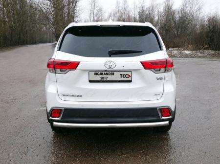 Toyota Highlander 2017-Защита задняя 60,3 мм